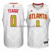 Maglie NBA Jeff Teague 0# Home 2015-16 Canotte Atlanta Hawks..