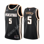Maglie NBA Atlanta Hawks 2019-20 Jabari Parker 5# Nero City Edition Canotte Swingman..