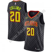 Maglie NBA Atlanta Hawks 2019-20 John Collins 20# Nero Icon Edition Canotte Swingman..