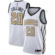 Maglie NBA Atlanta Hawks 2019-20 John Collins 20# Bianca City Edition Canotte Swingman..