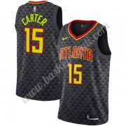 Maglie NBA Atlanta Hawks 2019-20 Vince Carter 15# Nero Icon Edition Canotte Swingman..