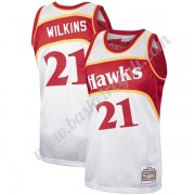 Maglie NBA Atlanta Hawks Dominique Wilkins 21# Platinum Hardwood Classics Canotte Swingman..