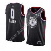 Maglie Basket NBA Boston Celtics 2019 Jayson Tatum 0# Nero All Star Game Finished Canotte Swingman..