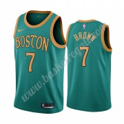 Maglie NBA Boston Celtics 2019-20 Jaylen Brown 7# Verde City Edition Canotte Swingman..