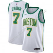 Maglie NBA Boston Celtics 2019-20 Jaylen Brown 7# Bianca City Edition Canotte Swingman..