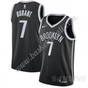 Canotte Basket Bambino Brooklyn Nets 2019-20 Kevin Durant 7# Nero Icon Edition Swingman..