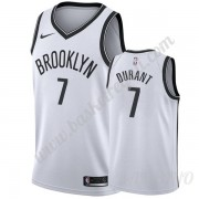 Canotte Basket Bambino Brooklyn Nets 2019-20 Kevin Durant 7# Bianca Association Edition Swingman..