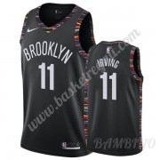 Canotte Basket Bambino Brooklyn Nets 2019-20 Kyrie Irving 11# Nero City Edition Swingman..