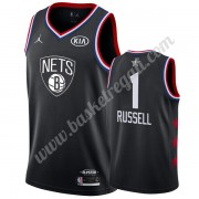 Maglie Basket NBA Brooklyn Nets 2019 Dangelo Russell 1# Nero All Star Game Canotte Swingman..