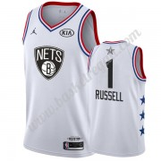 Maglie Basket NBA Brooklyn Nets 2019 Dangelo Russell 1# Bianca All Star Game Canotte Swingman..