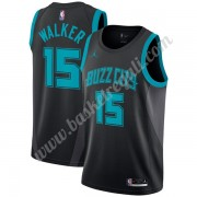 Maglie NBA Charlotte Hornets 2019-20 Kemba Walker 15# Nero City Edition Canotte Swingman..