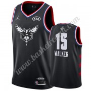 Maglie Basket NBA Charlotte Hornets 2019 Kemba Walker 15# Nero All Star Game Canotte Swingman..