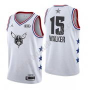 Maglie Basket NBA Charlotte Hornets 2019 Kemba Walker 15# Bianca All Star Game Canotte Swingman..