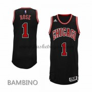 Maglie Basket NBA Chicago Bulls Bambino 2015-16 Derrick Rose 1# Alternate Swingman..