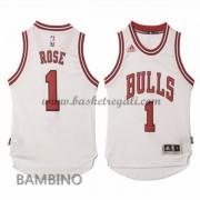 Maglie Basket NBA Chicago Bulls Bambino 2015-16 Derrick Rose 1# Home Swingman..