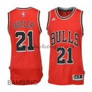 Maglie Basket NBA Chicago Bulls Bambino 2015-16 Jimmy Butler 21# Road Swingman..