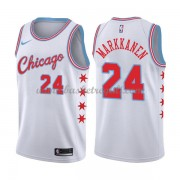 Maglie NBA Chicago Bulls 2018 Canotte Lauri Markkanen 24# City Edition..