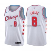 Maglie NBA Chicago Bulls 2018 Canotte Zach Lavine 8# City Edition..