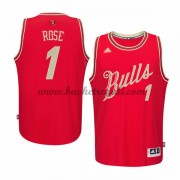 Magliette Basket Chicago Bulls Uomo 2015 Derrick Rose 1# NBA Natale Swingman..