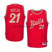 Magliette Basket Chicago Bulls Uomo 2015 Jimmy Butler 21# NBA Natale Swingman..