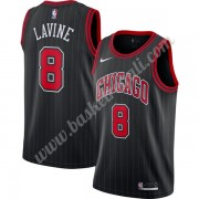 Maglie NBA Chicago Bulls 2019-20 Zach Lavine 8# Nero Finished Statement Edition Canotte Swingman..