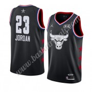 Maglie Basket NBA Chicago Bulls 2019 Michael Jordan 23# Nero All Star Game Canotte Swingman..