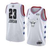 Maglie Basket NBA Chicago Bulls 2019 Michael Jordan 23# Bianca All Star Game Canotte Swingman..