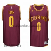 Canotte Basket Bambino Kevin Love 0# Road 2015-16 Maglia Cleveland Cavaliers..