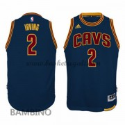 Canotte Basket Bambino Kyrie Irving 2# Navy Alternate 2015-16 Maglia Cleveland Cavaliers