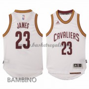 Maglie Basket NBA Cleveland Cavaliers Bambino 2015-16 LeBron James 23# Home Swingman..