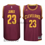 Maglie Basket NBA Cleveland Cavaliers Bambino 2015-16 LeBron James 23# Road Swingman..