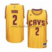 Maglie NBA Kyrie Irving 2# Gold Alternate 2015-16 Canotte Cleveland Cavaliers..