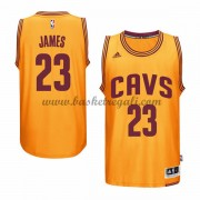 Maglie Basket NBA Cleveland Cavaliers Uomo 2015-16 LeBron James 23# Gold Alternate Swingman..