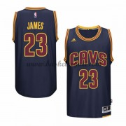 Maglie Basket NBA Cleveland Cavaliers Uomo 2015-16 LeBron James 23# Navy Alternate Swingman..