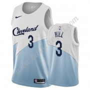 Maglie NBA Cleveland Cavaliers 2019-20 George Hill 3# Bianca Earned Edition Canotte Swingman..