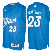 Magliette Basket Dallas Mavericks 2016 Wesley Matthews 23# NBA Natale Swingman..