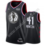Maglie Basket NBA Dallas Mavericks 2019 Dirk Nowitzki 41# Nero All Star Game Canotte Swingman..