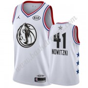 Maglie Basket NBA Dallas Mavericks 2019 Dirk Nowitzki 41# Bianca All Star Game Canotte Swingman..