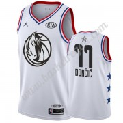 Maglie Basket NBA Dallas Mavericks 2019 Luka Doncic 77# Bianca All Star Game Canotte Swingman..