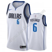 Maglie NBA Dallas Mavericks 2019-20 Kristaps Porzingis 6# Bianca Association Edition Canotte Swingma..