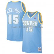 Maglie NBA Denver Nuggets Mens 2003-04 Carmelo Anthony 15# Light Blue Hardwood Classics..