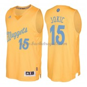 Magliette Basket Denver Nuggets 2016 Nikola Jokic 15# NBA Natale Swingman..
