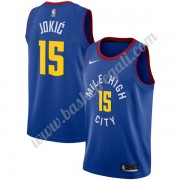 Maglie NBA Denver Nuggets 2019-20 Nikola Jokic 15# Blu Statement Edition Canotte Swingman..
