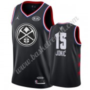 Maglie Basket NBA Denver Nuggets 2019 Nikola Jokic 15# Nero All Star Game Canotte Swingman..