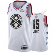 Maglie Basket NBA Denver Nuggets 2019 Nikola Jokic 15# Bianca All Star Game Canotte Swingman..