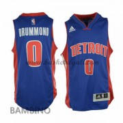 Canotte Basket Bambino Andre Drummond 0# Road 2015-16 Maglia Detroit Pistons