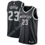 Maglie NBA Detroit Pistons 2019-20 Blake Griffin 23# Nero City Edition Canotte Swingman..