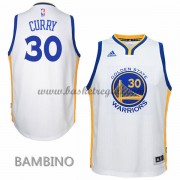 Canotte Basket Bambino Stephen Curry 30# Home 2015-16 Maglia Golden State Warriors