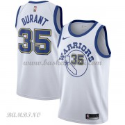 Canotte Basket Bambino Golden State Warriors 2018 Kevin Durant 35# White Hardwood Classics..