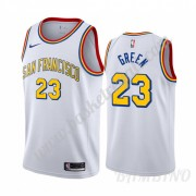 Canotte Basket Bambino Golden State Warriors 2019-20 Draymond Green 23# Bianca Classics Edition Swin..